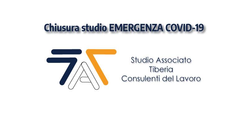 Chiusura studio EMERGENZA COVID-19