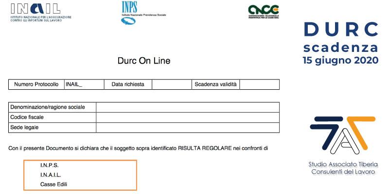 DURC Confermata la proroga della validità