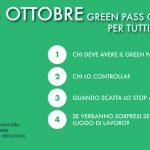 Dal 15 ottobre GREEN PASS obbligatorio per tutti i lavoratori