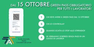 Read more about the article Dal 15 ottobre GREEN PASS obbligatorio per tutti i lavoratori